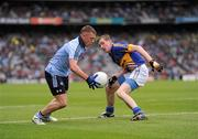 18 September 2011; Scott Fulham, Dublin, in action against Seamus Kennedy, Tipperary. GAA Football All-Ireland Minor Championship Final, Tipperary v Dublin, Croke Park, Dublin. Picture credit: Stephen McCarthy / SPORTSFILE