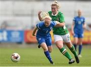 9 April 2017; Fanni Pietikäinen of Finland in action against Saoirse Noonan of Republic of Ireland during the UEFA Women's Under 19 European Championship Elite Round match between Republic of Ireland and Finland at Markets Field, in Limerick. Photo by Eóin Noonan/Sportsfile