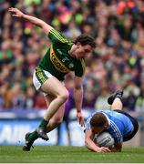 9 April 2017; Ciaran Kilkenny of Dublin is tackled by Tadhg Morley of Kerry during the Allianz Football League Division 1 Final between Dublin and Kerry at Croke Park in Dublin. Photo by Ramsey Cardy/Sportsfile