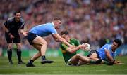 9 April 2017; Jack Savage of Kerry in action against Ciaran Kilkenny, left, and Cian O'Sullivan of Dublin during the Allianz Football League Division 1 Final match between Dublin and Kerry at Croke Park in Dublin. Photo by Stephen McCarthy/Sportsfile