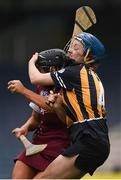 9 April 2017; Niamh McGrath of Galway in action against Claire Phelan of Kilkenny during the Littlewoods National Camogie League semi-final match between Galway and Kilkenny at Semple Stadium in Thurles, Co. Tipperary. Photo by David Fitzgerald/Sportsfile