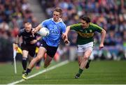9 April 2017; Paul Mannion of Dublin in action against Ronan Shanahan of Kerry during the Allianz Football League Division 1 Final match between Dublin and Kerry at Croke Park in Dublin. Photo by Stephen McCarthy/Sportsfile