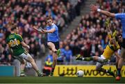 9 April 2017; Paul Mannion of Dublin shoots to score his sides first goal during the Allianz Football League Division 1 Final match between Dublin and Kerry at Croke Park, in Dublin. Photo by Stephen McCarthy/Sportsfile