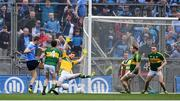 9 April 2017; Paul Mannion of Dublin scores his side's first goal of the game during the Allianz Football League Division 1 Final between Dublin and Kerry at Croke Park in Dublin. Photo by Ramsey Cardy/Sportsfile