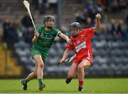 9 April 2017; Amy O'Connor of Cork in action against Mairead Ryan of Limerick during the Littlewoods National Camogie League semi-final match between Cork and Limerick at Pairc Ui Rinn, in Cork. Photo by Matt Browne/Sportsfile
