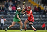 9 April 2017; Fiona Hickey of Limerick in action against Niamh McCarthy of Cork during the Littlewoods National Camogie League semi-final match between Cork and Limerick at Pairc Ui Rinn, in Cork. Photo by Matt Browne/Sportsfile