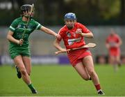 9 April 2017; Orla Cronin of Cork in action against Mairead Ryan of Limerick during the Littlewoods National Camogie League semi-final match between Cork and Limerick at Pairc Ui Rinn, in Cork. Photo by Matt Browne/Sportsfile