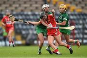 9 April 2017; Amy O'Connor of Cork in action against Fiona Hickey of Limerick during the Littlewoods National Camogie League semi-final match between Cork and Limerick at Pairc Ui Rinn, in Cork. Photo by Matt Browne/Sportsfile