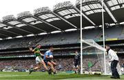 9 April 2017; James McCarthy of Dublin in action against Donnchadh Walsh of Kerry during the Allianz Football League Division 1 Final match between Dublin and Kerry at Croke Park in Dublin. Photo by Stephen McCarthy/Sportsfile