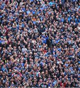 9 April 2017; Dublin supporters on Hill 16 celebrate a goal by Paul Mannion during the Allianz Football League Division 1 Final between Dublin and Kerry at Croke Park in Dublin. Photo by Ramsey Cardy/Sportsfile