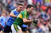 9 April 2017; Bryan Sheehan of Kerry is tackled by James McCarthy of Dublin during the Allianz Football League Division 1 Final between Dublin and Kerry at Croke Park in Dublin. Photo by Ramsey Cardy/Sportsfile