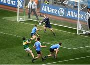 9 April 2017; Tadhg Morley of Kerry has his goal bound shot saved by Dublin goalkeeper Stephen Cluxton during the Allianz Football League Division 1 Final match between Dublin and Kerry at Croke Park, in Dublin. Photo by Ray McManus/Sportsfile