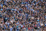 9 April 2017; Dublin supporters, on Hill 16, applaud as a video of Colm Cooper's career is played before the Allianz Football League Division 1 Final match between Dublin and Kerry at Croke Park, in Dublin. Photo by Ray McManus/Sportsfile