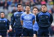 9 April 2017; Dublin's Bernard Brogan, left, and Diarmuid Connolly ahead of the Allianz Football League Division 1 Final between Dublin and Kerry at Croke Park in Dublin. Photo by Ramsey Cardy/Sportsfile