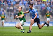 9 April 2017; Fionn Fitzgerald of Kerry in action against James McCarthy of Dublin during the Allianz Football League Division 1 Final between Dublin and Kerry at Croke Park in Dublin. Photo by Ramsey Cardy/Sportsfile