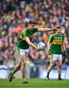 9 April 2017; Paul Geaney of Kerry kicks a free during the Allianz Football League Division 1 Final between Dublin and Kerry at Croke Park in Dublin. Photo by Ramsey Cardy/Sportsfile