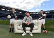 10 April 2017; In attendance at the launch of the Littlewoods Ireland GAA Go Games Provincial Days in Croke Park are Kerry footballer Donnchadh Walsh with Conor Curran and Katie Morely. At the event Littlewoods Ireland were joined by their ambassador and Waterford hurler Austin Gleeson, Dublin Ladies footballer Noelle Healy, Kildare camogie player Siobhan Hurley and Kerry footballer Donnchadh Walsh. The GAA Go Games Provincial Days is an initiative which will see 7,000 children take part in mini versions of hurling and football blitzes over the course of two weeks in April. As part of the sponsorship, a special Littlewoods Ireland Lounge was installed in Croke Park for the Go Games. Photo by Ramsey Cardy/Sportsfile