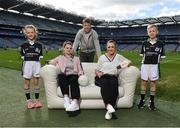 10 April 2017; In attendance at the launch of the Littlewoods Ireland GAA Go Games Provincial Days in Croke Park are, from left, Katie Morely, Dublin ladies footballer Noelle Healy, Kerry footballer Donnchadh Walsh, Kildare camogie player Siobhan Hurley and Conor Curran. At the event Littlewoods Ireland were joined by their ambassador and Waterford hurler Austin Gleeson, Dublin Ladies footballer Noelle Healy, Kildare camogie player Siobhan Hurley and Kerry footballer Donnchadh Walsh. The GAA Go Games Provincial Days is an initiative which will see 7,000 children take part in mini versions of hurling and football blitzes over the course of two weeks in April. As part of the sponsorship, a special Littlewoods Ireland Lounge was installed in Croke Park for the Go Games. Photo by Ramsey Cardy/Sportsfile