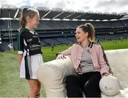 10 April 2017; In attendance at the launch of the Littlewoods Ireland GAA Go Games Provincial Days in Croke Park are Dublin ladies footballer Noelle Healy and Katie Morely. At the event Littlewoods Ireland were joined by their ambassador and Waterford hurler Austin Gleeson, Dublin Ladies footballer Noelle Healy, Kildare camogie player Siobhan Hurley and Kerry footballer Donnchadh Walsh. The GAA Go Games Provincial Days is an initiative which will see 7,000 children take part in mini versions of hurling and football blitzes over the course of two weeks in April. As part of the sponsorship, a special Littlewoods Ireland Lounge was installed in Croke Park for the Go Games. Photo by Ramsey Cardy/Sportsfile