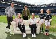 10 April 2017; In attendance at the launch of the Littlewoods Ireland GAA Go Games Provincial Days in Croke Park are, from left, Kerry footballer Donnchadh Walsh, Dublin ladies footballer Noelle Healy, Waterford hurler Austin Gleeson, Kildare camogie player Siobhan Hurley, Conor Curran and Katie Morely. At the event Littlewoods Ireland were joined by their ambassador and Waterford hurler Austin Gleeson, Dublin Ladies footballer Noelle Healy, Kildare camogie player Siobhan Hurley and Kerry footballer Donnchadh Walsh. The GAA Go Games Provincial Days is an initiative which will see 7,000 children take part in mini versions of hurling and football blitzes over the course of two weeks in April. As part of the sponsorship, a special Littlewoods Ireland Lounge was installed in Croke Park for the Go Games. Photo by Ramsey Cardy/Sportsfile