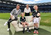 10 April 2017; In attendance at the launch of the Littlewoods Ireland GAA Go Games Provincial Days in Croke Park are Kerry footballer Donnchadh Walsh and Kildare camogie player Siobhan Hurley with Conor Curran and Katie Morely. At the event Littlewoods Ireland were joined by their ambassador and Waterford hurler Austin Gleeson, Dublin Ladies footballer Noelle Healy, Kildare camogie player Siobhan Hurley and Kerry footballer Donnchadh Walsh. The GAA Go Games Provincial Days is an initiative which will see 7,000 children take part in mini versions of hurling and football blitzes over the course of two weeks in April. As part of the sponsorship, a special Littlewoods Ireland Lounge was installed in Croke Park for the Go Games. Photo by Ramsey Cardy/Sportsfile