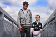 10 April 2017; In attendance at the launch of the Littlewoods Ireland GAA Go Games Provincial Days in Croke Park are Kerry footballer Donnchadh Walsh and Katie Morely. At the event Littlewoods Ireland were joined by their ambassador and Waterford hurler Austin Gleeson, Dublin Ladies footballer Noelle Healy, Kildare camogie player Siobhan Hurley and Kerry footballer Donnchadh Walsh. The GAA Go Games Provincial Days is an initiative which will see 7,000 children take part in mini versions of hurling and football blitzes over the course of two weeks in April. As part of the sponsorship, a special Littlewoods Ireland Lounge was installed in Croke Park for the Go Games. Photo by Ramsey Cardy/Sportsfile