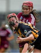 9 April 2017; Grace Walsh of Kilkenny in action against Orlaith McGrath of Galway during the Littlewoods National Camogie League semi-final match between Galway and Kilkenny at Semple Stadium in Thurles, Co. Tipperary. Photo by David Fitzgerald/Sportsfile