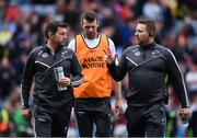 9 April 2017; Kildare manager Cian O'Neill, right, with selectors Enda Murphy, left, and Ronan Sweeney during the Allianz Football League Division 2 Final between Kildare and Galway at Croke Park in Dublin. Photo by Ramsey Cardy/Sportsfile