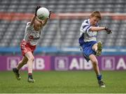 13 April 2017; Ben Guckian representing St Marys GAA Club, Kiltoghert, Co. Leitrim, in action against Shane Coleman, representing Killererin GAA Club, Co. Galway, during the Go Games Provincial Days in partnership with Littlewoods Ireland Day 4 at Croke Park in Dublin. Photo by Seb Daly/Sportsfile