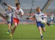 13 April 2017; Ben Guckian representing St Marys GAA Club, Kiltoghert, Co. Leitrim, in action against Ryan Tracy, representing Killererin GAA Club, Co. Galway, during the Go Games Provincial Days in partnership with Littlewoods Ireland Day 4 at Croke Park in Dublin. Photo by Seb Daly/Sportsfile