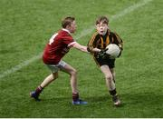13 April 2017; Jack Walsh representing Strokestown GAA Club, Co. Roscommon in action against Conor Fahy representing Balla GAA Club, Co. Mayo during the Go Games Provincial Days in partnership with Littlewoods Ireland Day 4 at Croke Park in Dublin. Photo by Eóin Noonan/Sportsfile
