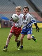 13 April 2017; Shane Coleman representing Killererin GAA Club, Co. Galway, in action against Conor Lang representing St Farnans GAA Club, Co. Sligo, during the Go Games Provincial Days in partnership with Littlewoods Ireland Day 4 at Croke Park in Dublin. Photo by Seb Daly/Sportsfile