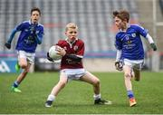 13 April 2017; Liam Glynn representing Balla GAA Club, Co. Mayo, in action against Daniel Sheehan representing St Michaels GAA Club, Co. Galway, during the Go Games Provincial Days in partnership with Littlewoods Ireland Day 4 at Croke Park in Dublin. Photo by Seb Daly/Sportsfile