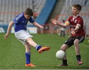 13 April 2017; Brendan Ward representing St Michaels GAA Club, Co. Galway, in action against Cillian Fadden representing Balla GAA Club, Co. Mayo, during the Go Games Provincial Days in partnership with Littlewoods Ireland Day 4 at Croke Park in Dublin. Photo by Seb Daly/Sportsfile
