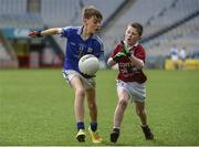 13 April 2017; Oisin Madden representing St Michaels GAA Club, Co. Galway, in action against Patrick McHale representing Balla GAA Club, Co. Mayo, during the Go Games Provincial Days in partnership with Littlewoods Ireland Day 4 at Croke Park in Dublin. Photo by Seb Daly/Sportsfile