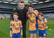 13 April 2017; Joe Canning of Portumna and Galway with his nephews, from left, Jody, Adam and Andrew Canning who are all representing Portumna GAA Club, Co. Galway, during the Go Games Provincial Days in partnership with Littlewoods Ireland Day 4 at Croke Park in Dublin. Photo by Eóin Noonan/Sportsfile
