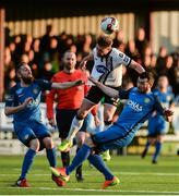 14 April 2017; Conor Clifford of Dundalk in action against Mark Salmon, left, and Ryan Brennan of Bray Wanderers during the SSE Airtricity League Premier Division match between Dundalk and Bray Wanderers at Oriel Park in Dundalk, Co Louth. Photo by Piaras Ó Mídheach/Sportsfile