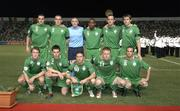 7 October 2006; The Republic of Ireland team, back row, l to r, John O'Shea, Richard Dunne, Paddy Kenny, Clinton Morrison, Andy O'Brien and Kevin Kilbane. front row, l to r, Aiden McGeady, Steve Finnan, Robbie Keane, Damien Duff and Stephen Ireland. Euro 2008 Championship Qualifier, Cyprus v Republic of Ireland, GSP Stadium, Nicosia, Cyprus. Picture credit: Brian Lawless / SPORTSFILE