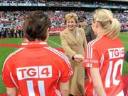 25 September 2011; President of Ireland Mary McAleese meets the Cork team before the game. TG4 All-Ireland Ladies Senior Football Championship Final, Cork v Monaghan, Croke Park, Dublin. Picture credit: Pat Murphy / SPORTSFILE