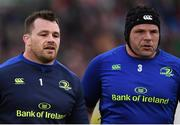 15 April 2017; Cian Healy, left, and Mike Ross of Leinster during the Guinness PRO12 Round 20 match between Connacht and Leinster at the Sportsground in Galway. Photo by Stephen McCarthy/Sportsfile