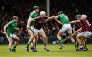 16 April 2017; Joe Canning of Galway in action against Alan Dempsey, William O'Donoghue, and Diarmaid Byrnes of Limerick during the Allianz Hurling League Division 1 Semi-Final match between Limerick and Galway at the Gaelic Grounds in Limerick. Photo by Diarmuid Greene/Sportsfile