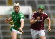 16 April 2017; Peter Casey of Limerick in action against Adrian Tuohy of Galway during the Allianz Hurling League Division 1 Semi-Final match between Limerick and Galway at the Gaelic Grounds in Limerick. Photo by Ray McManus/Sportsfile