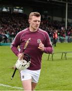 16 April 2017; Joe Canning of Galway makes his way out for the start of the Allianz Hurling League Division 1 Semi-Final match between Limerick and Galway at the Gaelic Grounds in Limerick. Photo by Diarmuid Greene/Sportsfile