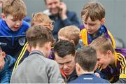 16 April 2017; Kilkeny hurler TJ Reid signs autographs for supporters during the Allianz Hurling League Division 1 Semi-Final match between Wexford and Tipperary at Nowlan Park in Kilkenny. Photo by Ramsey Cardy/Sportsfile