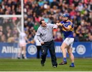 16 April 2017; Wexford manager Davy Fitzgerald and Jason Forde of Tipperary during the Allianz Hurling League Division 1 Semi-Final match between Wexford and Tipperary at Nowlan Park in Kilkenny. Photo by Stephen McCarthy/Sportsfile