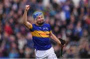 16 April 2017; John McGrath of Tipperary celebrates after scoring his side's third goal during the Allianz Hurling League Division 1 Semi-Final match between Wexford and Tipperary at Nowlan Park in Kilkenny. Photo by Stephen McCarthy/Sportsfile