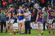 16 April 2017; Wexford manager Davy Fitzgerald in conversation with PadraicMaher of Tipperary following the Allianz Hurling League Division 1 Semi-Final match between Wexford and Tipperary at Nowlan Park in Kilkenny. Photo by Ramsey Cardy/Sportsfile