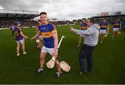 16 April 2017; Wexford manager Davy Fitzgerald and PadraicMaher of Tipperary following the Allianz Hurling League Division 1 Semi-Final match between Wexford and Tipperary at Nowlan Park in Kilkenny. Photo by Stephen McCarthy/Sportsfile