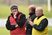 16 April 2017; Antrim manager Dominic McKinley with Antrim selectors Terence Sambo McNaughton and Gary O'Kan during the Ulster GAA Hurling Senior Championship Final match between Antrim and Armagh at the Derry GAA Centre of Excellence in Owenbeg, Derry. Photo by Oliver McVeigh/Sportsfile