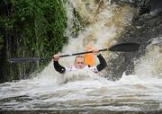 8 October 2011; Conor Young, Salmon Leap Canoe Club, Co. Dublin, in action on the Straffan weir, Co. Kildare, in the Senior Racing Kayak Singles K1, during the 2011 Liffey Descent, Kildare - Dublin. Picture credit: Barry Cregg / SPORTSFILE
